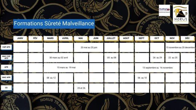dates formations sécurité